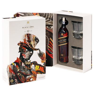 Johnnie Walker Black Label Tristan Eaton Gift Box with 2 Glasses