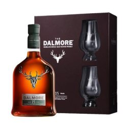 Dalmore 15 years Gift Pack with Glasses